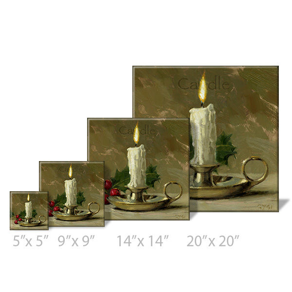 candle print sizes
