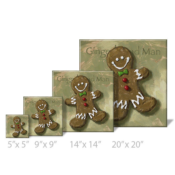 gingerbread man print sizes