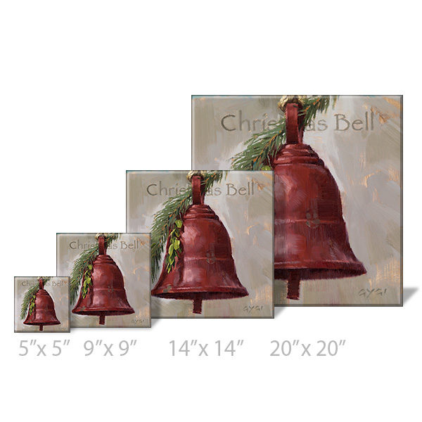 Christmas bell print sizes