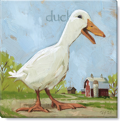 Duck giclee canvas art print