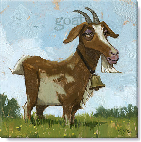 Goat giclee canvas print