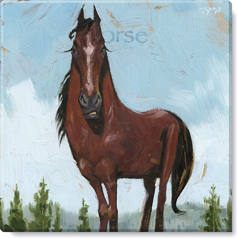 horse gallery wrapped giclee print