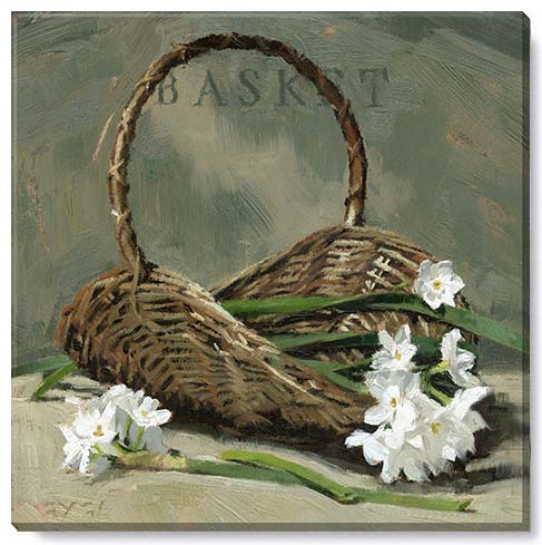 easter basket canvas art print