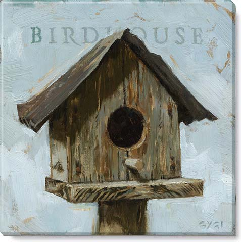 birdhouse canvas art print