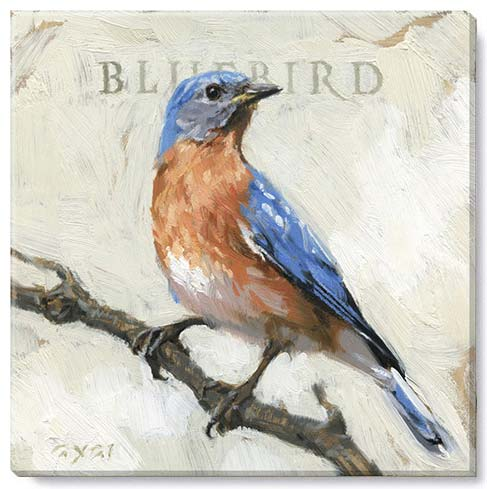 bluebird canvas art print