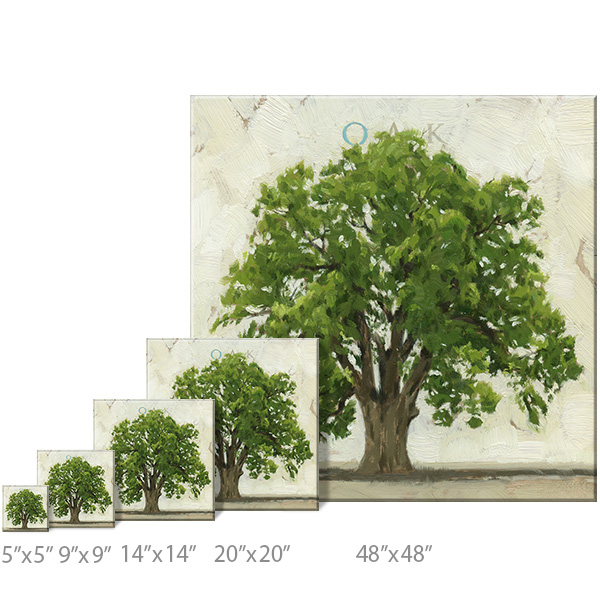 oak tree print sizes