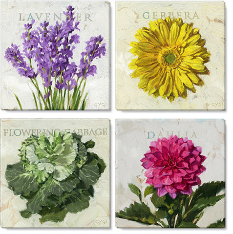 pleasing posies print set