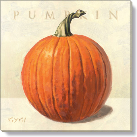 pumpkin canvas art print