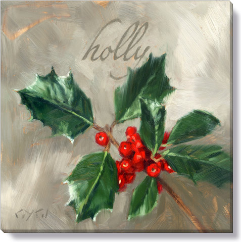 holly canvas art print