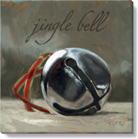 jingle bell canvas art print