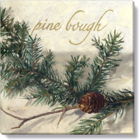 pine bough giclee canvas print christmas home decor
