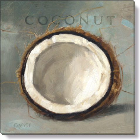 coconut canvas art print