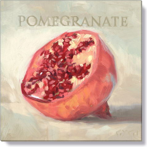 pomegranate canvas art print