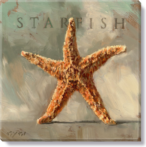 star fish canvas art print