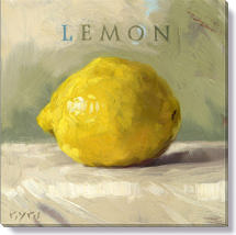 lemon canvas art print