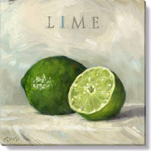 lime canvas art print