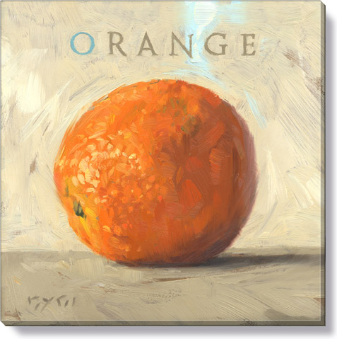 orange fruit canvas art print