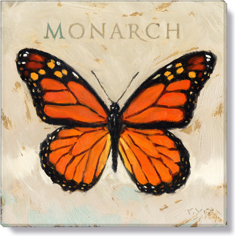 monarch butterfly canvas art print