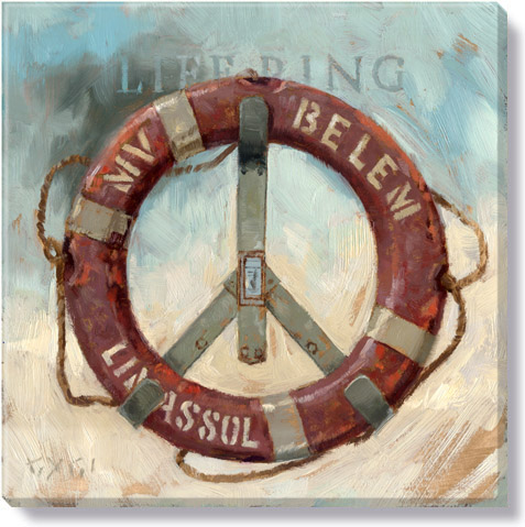 life ring canvas art print