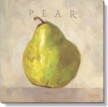 pear canvas art print