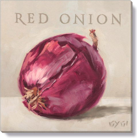 red onion canvas art print