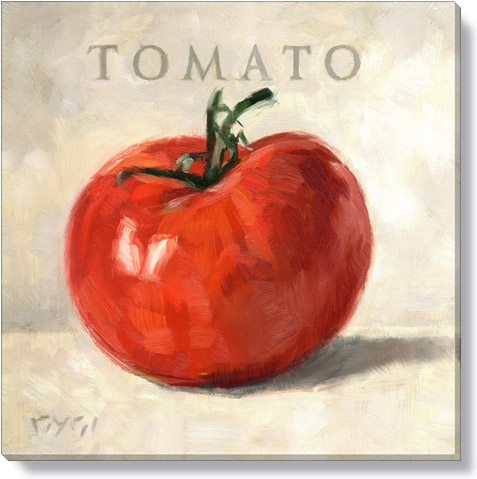 tomato canvas art print