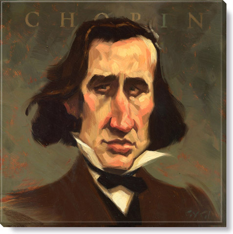chopin composer giclee print