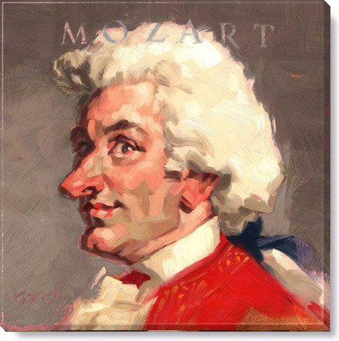 mozart composer canvas art print