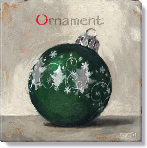 Christmas ornament canvas art print