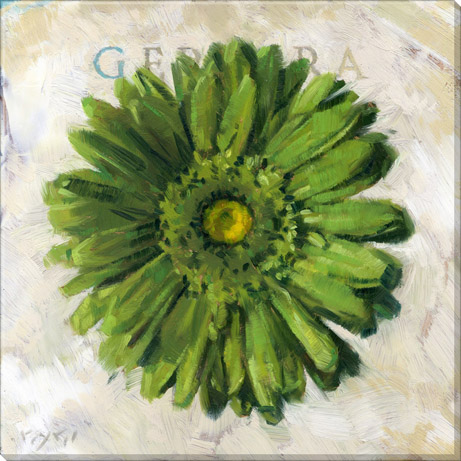 bright green gerbera daisy wall decor
