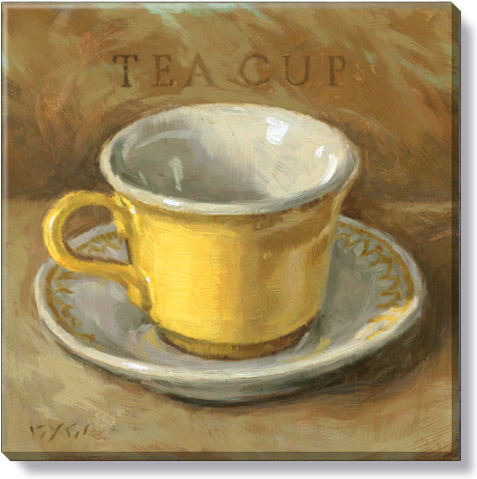 yellow teacup art print