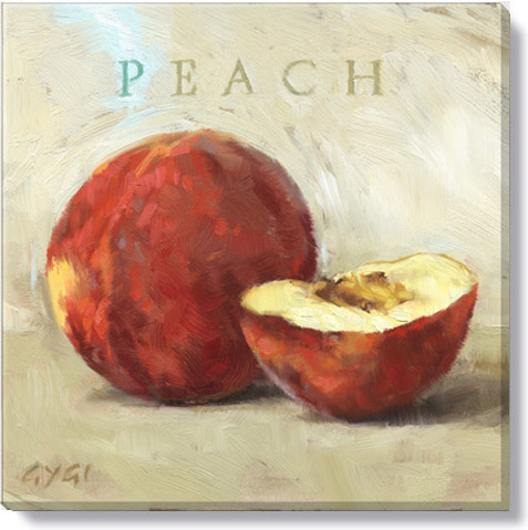 peach canvas art print