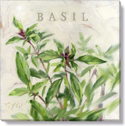 basil canvas art print