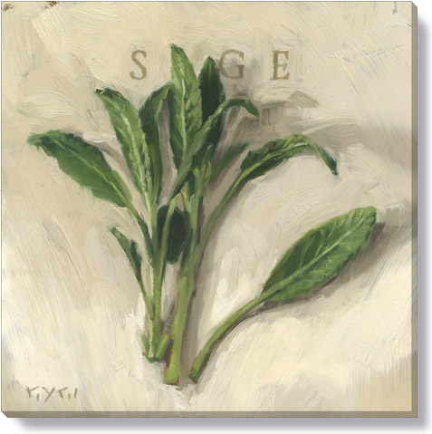 sage canvas art print