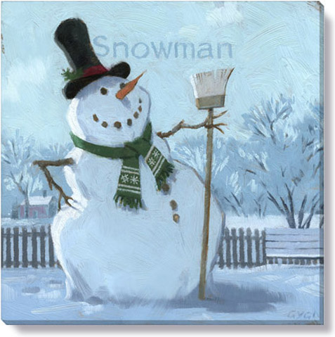 holiday home decor snowman canvas art print