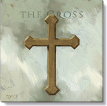 cross canvas art print