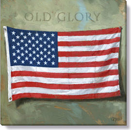 old glory flag art print