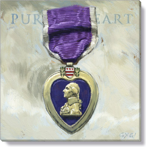 purple heart canvas art print