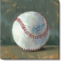 baseball canvas giclee print