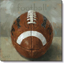 football giclee art print