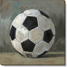 soccer ball canvas art print