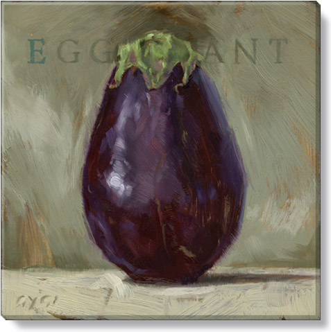 eggplant canvas art print