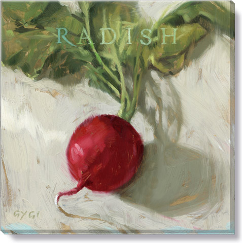 radish canvas art print