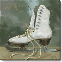 ice skates canvas art print