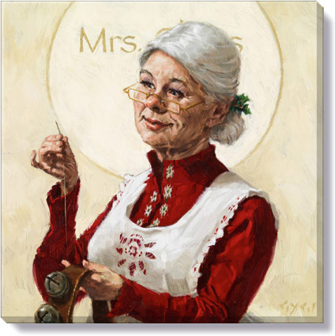mrs claus christmas art print