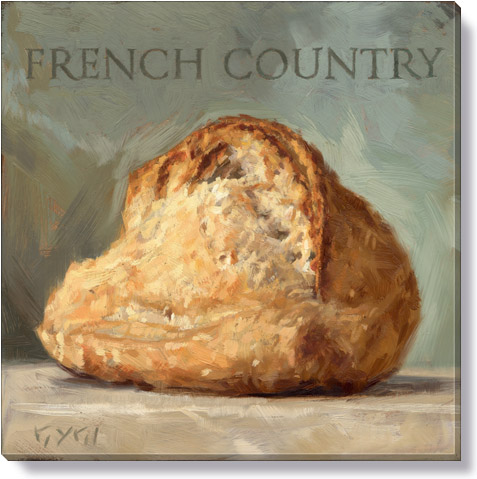 french country bread art print