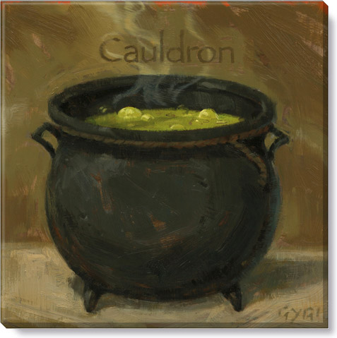 cauldron halloween art print