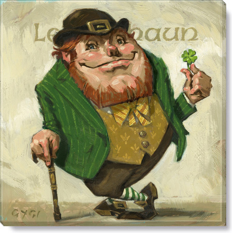 leprechaun canvas art print - holiday home decor