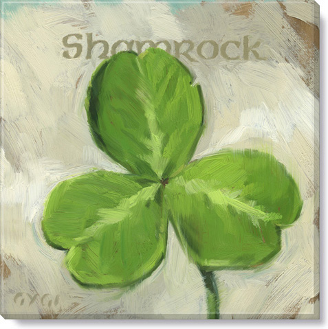 shamrock canvas art print