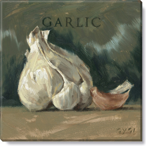 garlic canvas art print
